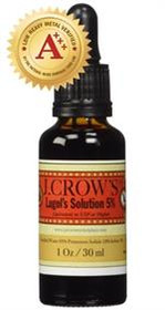 5% STRENGTH LUGOLS SOLUTION JW CROWES IODINE