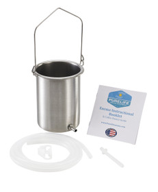 Purelife Enema Kit / 1.25 Qt / 304 Stainless Steel / Made in USA