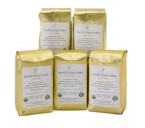 coffee gold bag enema coffee air roasted 100% organic