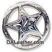Engraved Ranger Star Concho 1-1/4 Inch Silver Plate