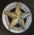 """1-1/4"""" 3-D Texas Star Concho"""