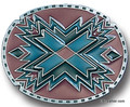 Southwestern Oval Red Buckle