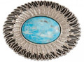 Turquoise Feather Trophy Buckle