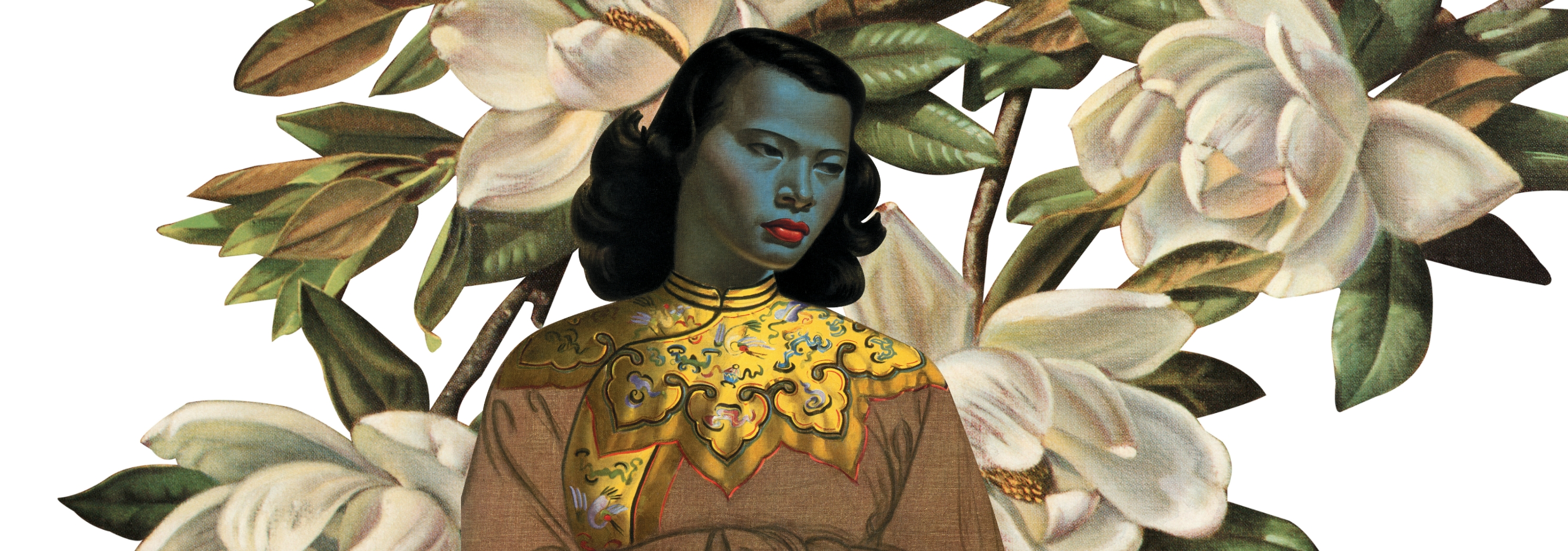 New Tretchikoff  Artwork combining Chinese Girl and Magnolias