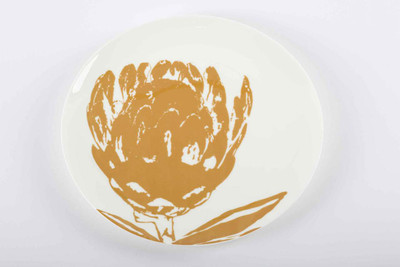 Chinese Girl Protea Flower Dinner Plate