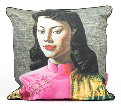 Tretchikoff 'Miss Wong' Linen Cushion 60x60cm