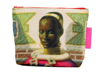 Woman of Ndebele Cosmetic Bag