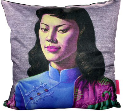 Tretchikoff 'Miss Wong' Lilac Cushion Cover 50x50cm