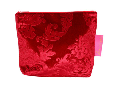 Tretchikoff Red Velvet Lotus Cosmetic Bag