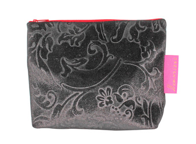 Tretchikoff Silver Velvet Lotus Cosmetic Bag