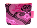 Tretchikoff Fuschia 2 Tone Velvet Lotus Cosmetic Bag