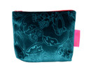 Tretchikoff Teal Velvet Lotus Cosmetic Bag