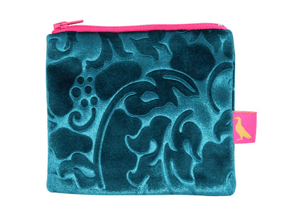 Tretchikoff Velvet Lotus Teal Coin Purse