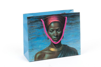 Tretchikoff Zulu Girl gift bag with pink rope handle
