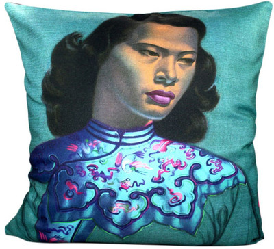 Tretchikoff Chinese Girl (Duck Egg) Cushion Cover
