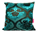 Tretchikoff 'Velvet Lotus' Teal Cushion 50x50cm