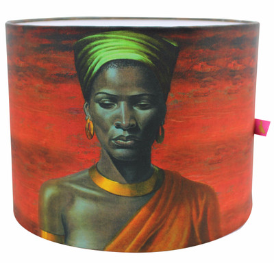 Tretchikoff 'Zulu Girl Red Sunset' Lampshade