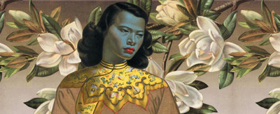"Tretchikoff ""Chinese Girl & Magnolias Wallpaper"""
