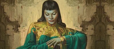 "Tretchikoff ""Lady from Orient - Mustard Filter"" Wallpaper"