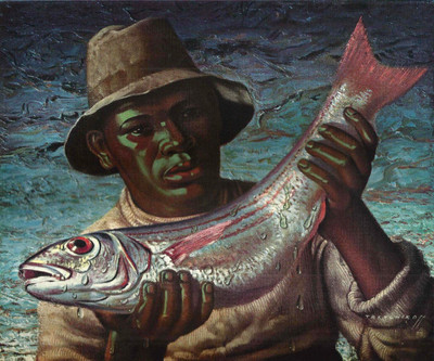 Tretchikoff 'Cape Fisherman' Vintage Print