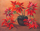 Tretchikoff Red Poinsettias Vintage Print