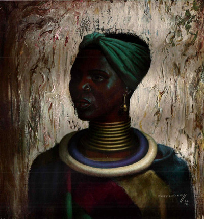 Tretchikoff 'Woman of The Ndebele' Vintage Print