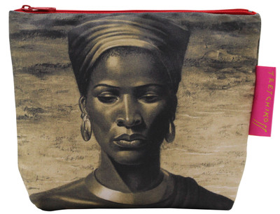Tretchikoff 'Zulu Girl Sepia' Cosmetic Bag