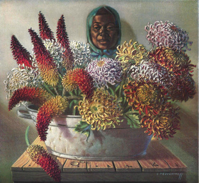 Tretchikoff 'Flower Seller' Canvas Art Print