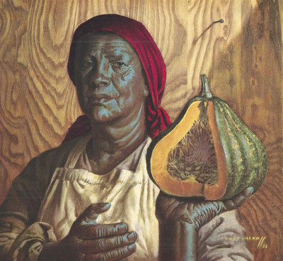 Tretchikoff 'Pumpkin Seller' Canvas Art Print