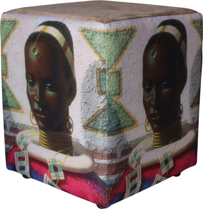 Image: Tretchikoff 'Woman of Ndebele' Ottoman Details