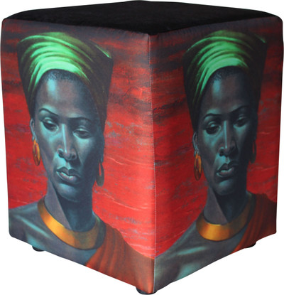 Image: Tretchikoff 'Zulu Girl' Red Sunset Ottoman