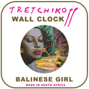 "Tretchikoff ""Balinese Girl"" Wall Clock"