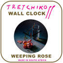 "Tretchikoff ""Weeping Rose"" Wall Clock"