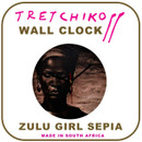 "Tretchikoff ""Zulu Girl Sepia""  Wall Clock"