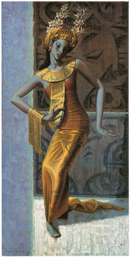 "Tretchikoff ""Balinese Dancer' New Art Print"