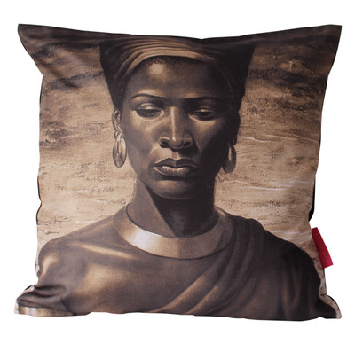 Tretchikoff 'Zulu Girl' Sepia Cushion Cover 50x50cm