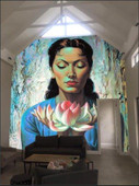 Tretchikoff 'Lady with Lotus' Wallpaper