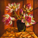 Tretchikoff Lotus Flowers New Art Print