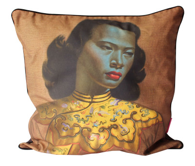 Cushion Cover Chinese Girl Linen 60x60cm