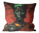 Cushion Cover Zulu Girl Red Sunset Linen 60x60cm