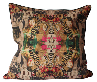 Cushion Cover Collage Linen 60x60cm