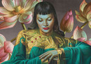 Tretchikoff Lady From Orient & Lotus Flowers