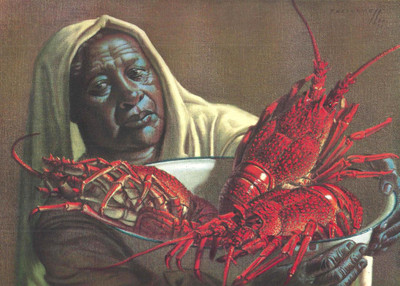 Tretchikoff 'Crawfish Seller' (Crayfish Seller) Canvas Art Print