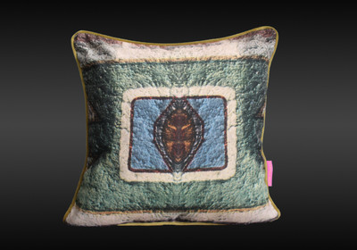 Tretchikoff Woman of Ndebele Elements Cushion Cover