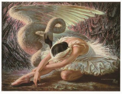 Tretchikoff 'Dying Swan' Canvas Art Print