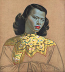Chinese Girl - Yellow Jacket vintage Print