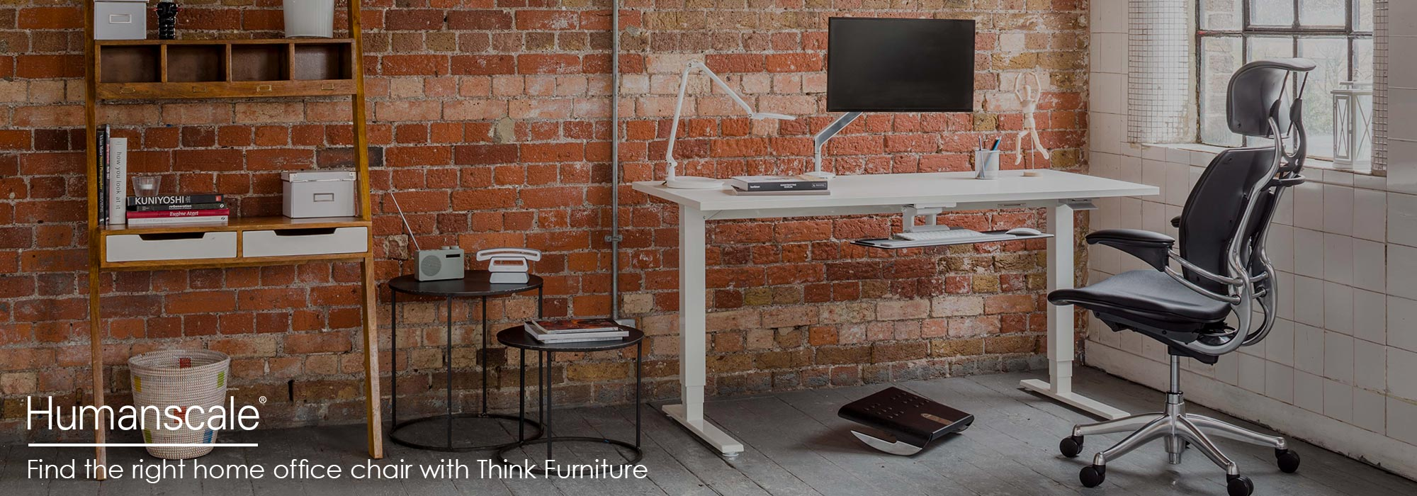 Humanscale Freedom Headrest Chair & Float Desk - Home Working