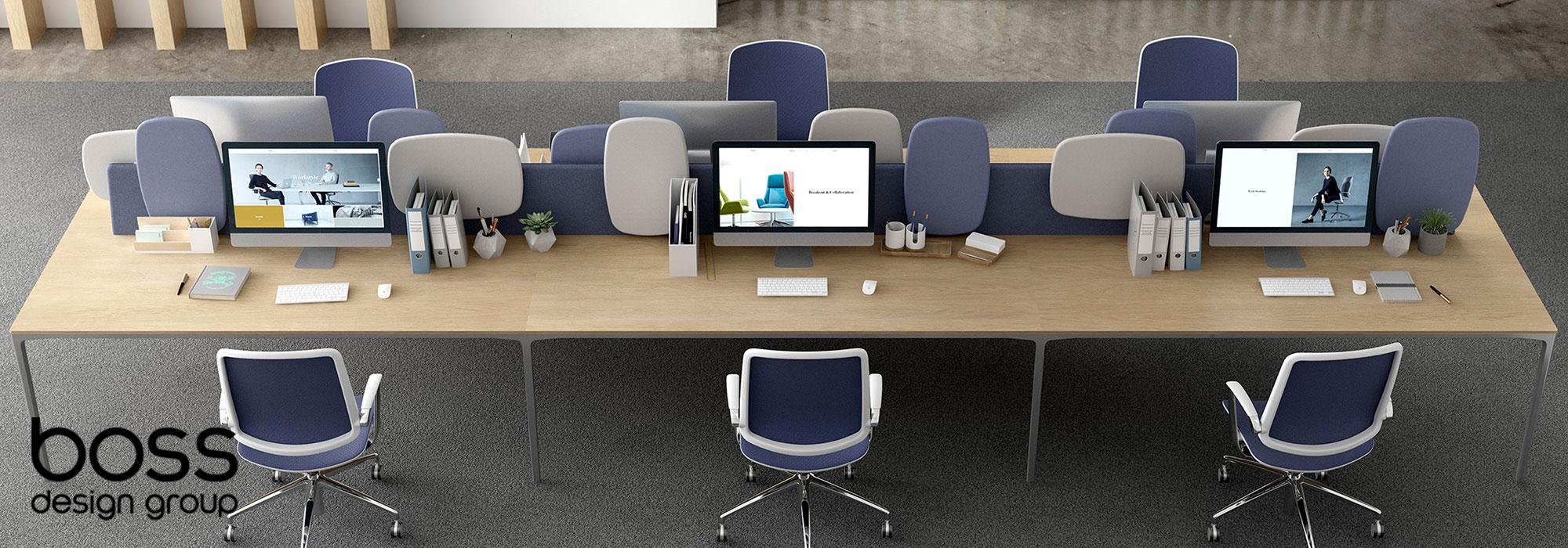 Boss Design Atom Desking & Trinetic Task Chairs