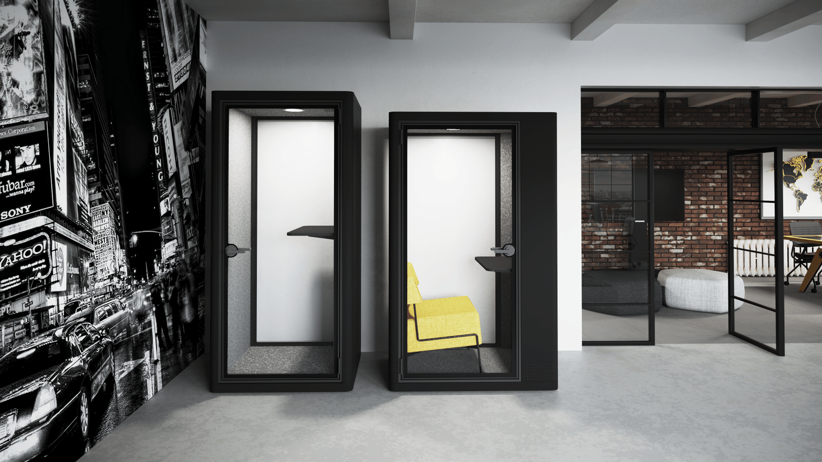Koplus Milli Phone Booth - Stand & Sit Variations