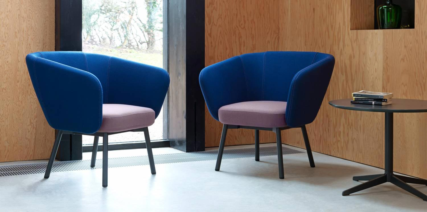 Ocee Design Billo Armchairs with Black Legs